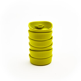 Wildo Fold-A-Cup Set d'autocollants Unicolore 6x, lime